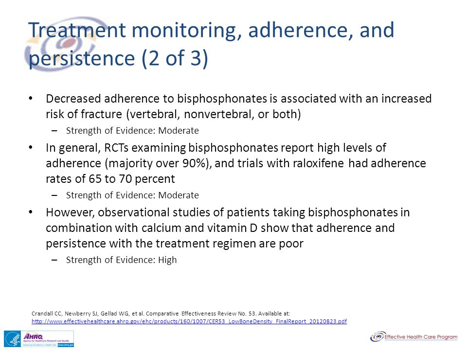 Treatment monitoring, adherence, and persistence (2 of 3)