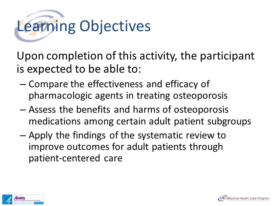 Learning Objectives Upon completion of this activity, the participant is expected to be able to: