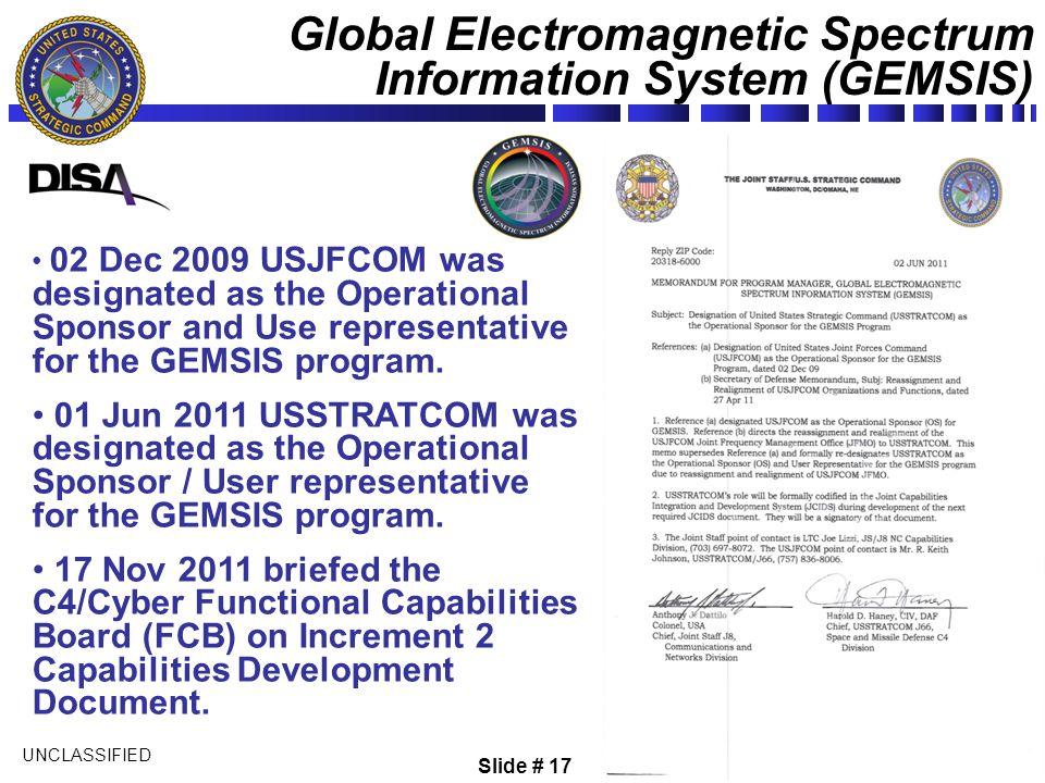 Global Electromagnetic Spectrum Information System (GEMSIS)