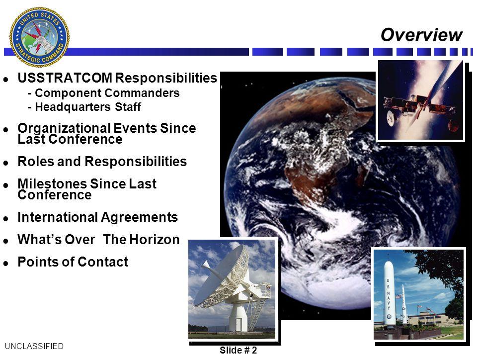 Overview USSTRATCOM Responsibilities