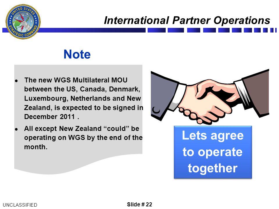 International Partner Operations