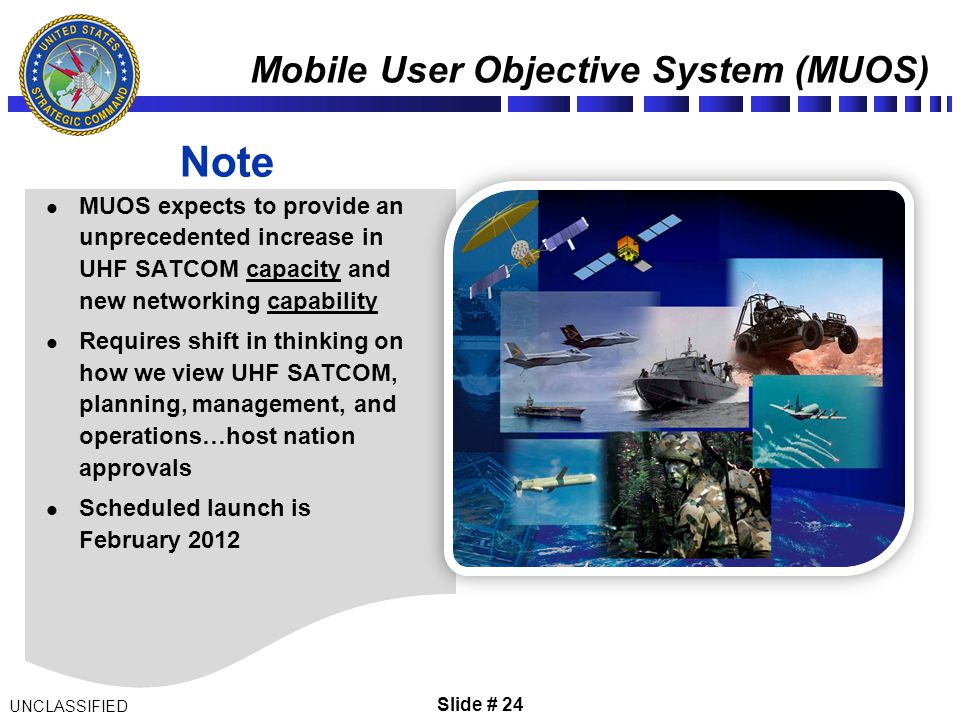 Mobile User Objective System (MUOS)