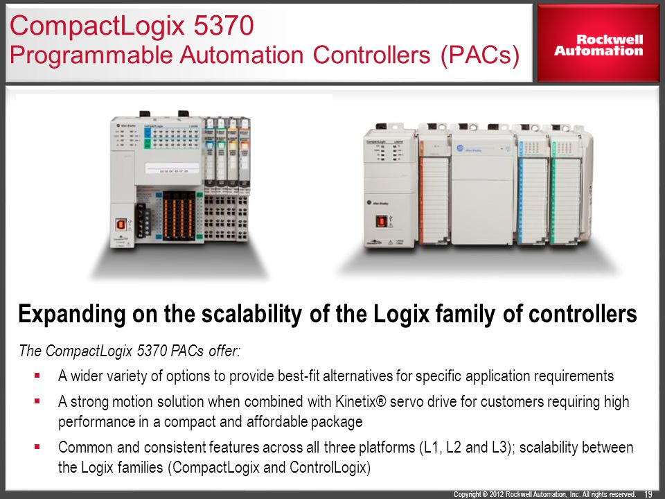 CompactLogix 5370 Programmable Automation Controllers (PACs)