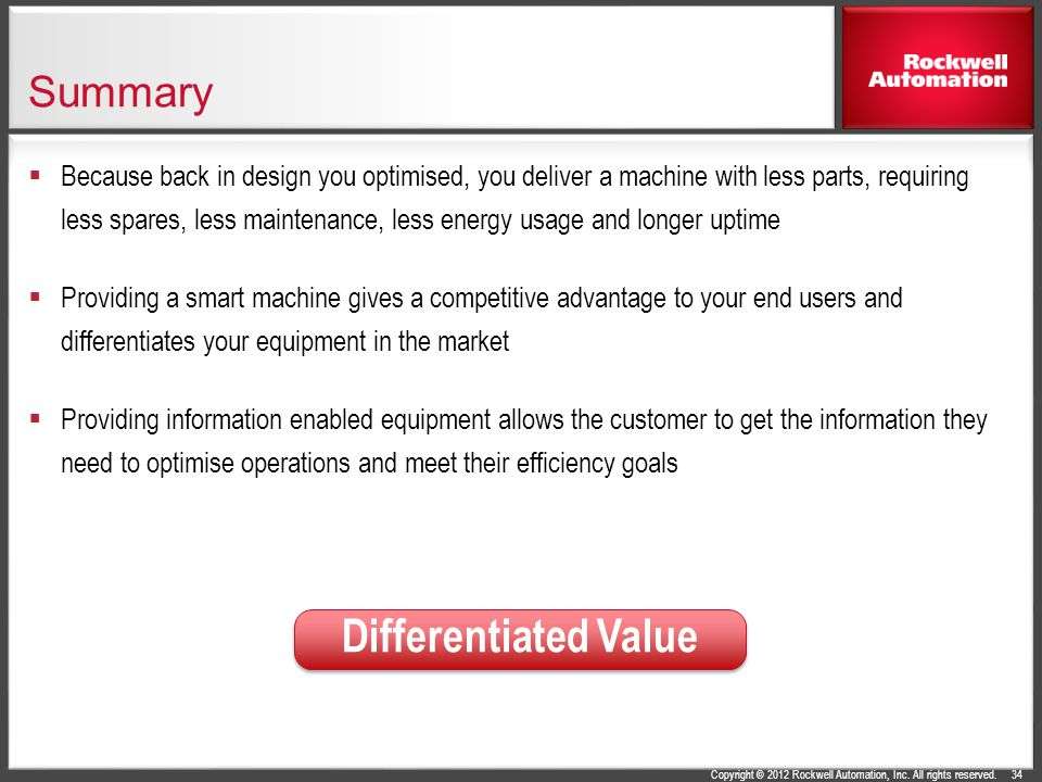 Differentiated Value Summary