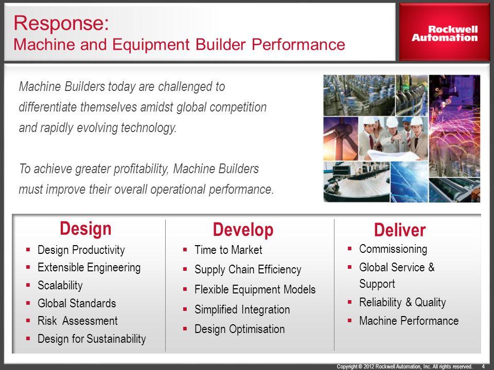 Response: Machine and Equipment Builder Performance