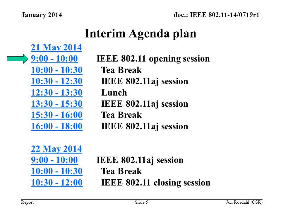 January 2014 Interim Agenda plan.