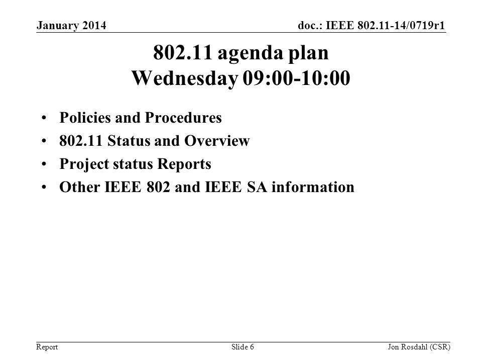 802.11 agenda plan Wednesday 09:00-10:00