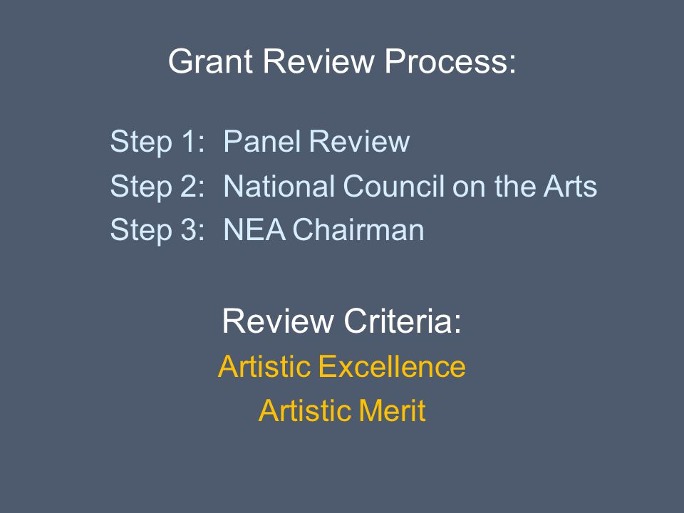 Grant Review Process: Review Criteria: Step 1: Panel Review