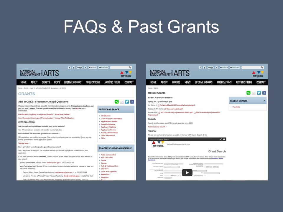 FAQs & Past Grants