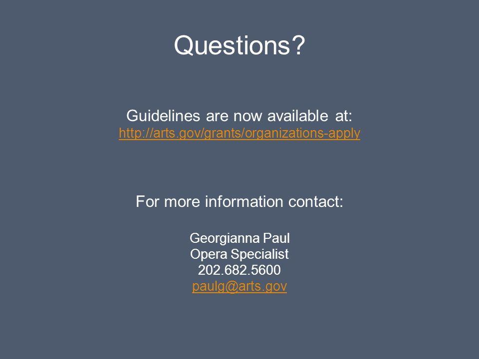 Questions Guidelines are now available at: