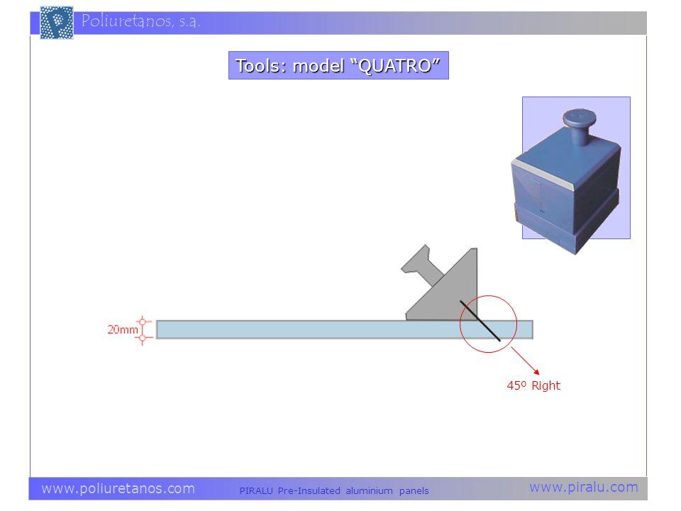 Tools: model QUATRO 45º Right