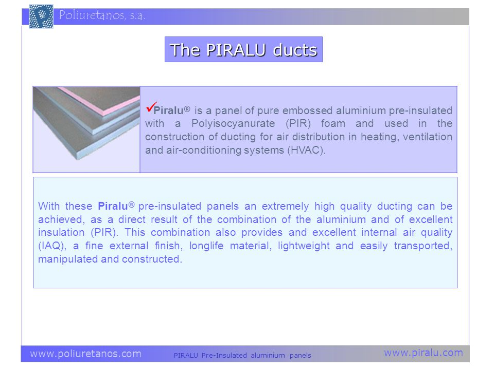 The PIRALU ducts