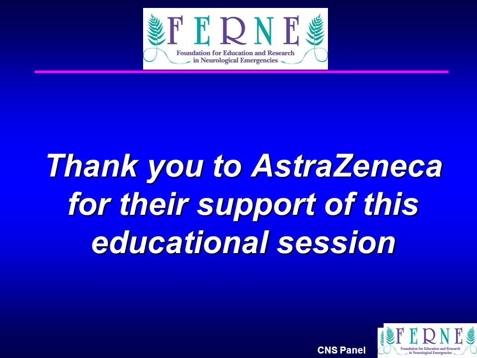 Thank you to AstraZeneca for their support of this educational session