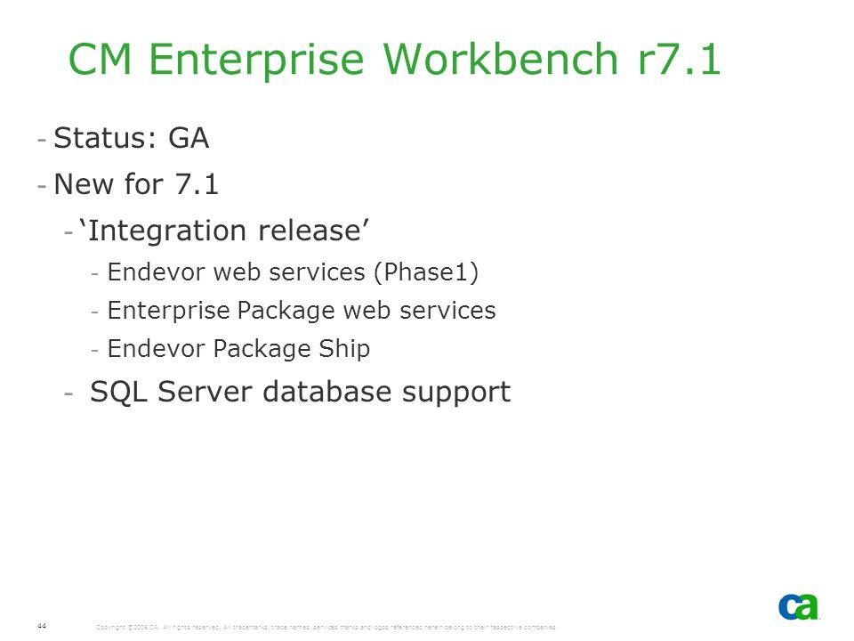 CM Enterprise Workbench r7.1