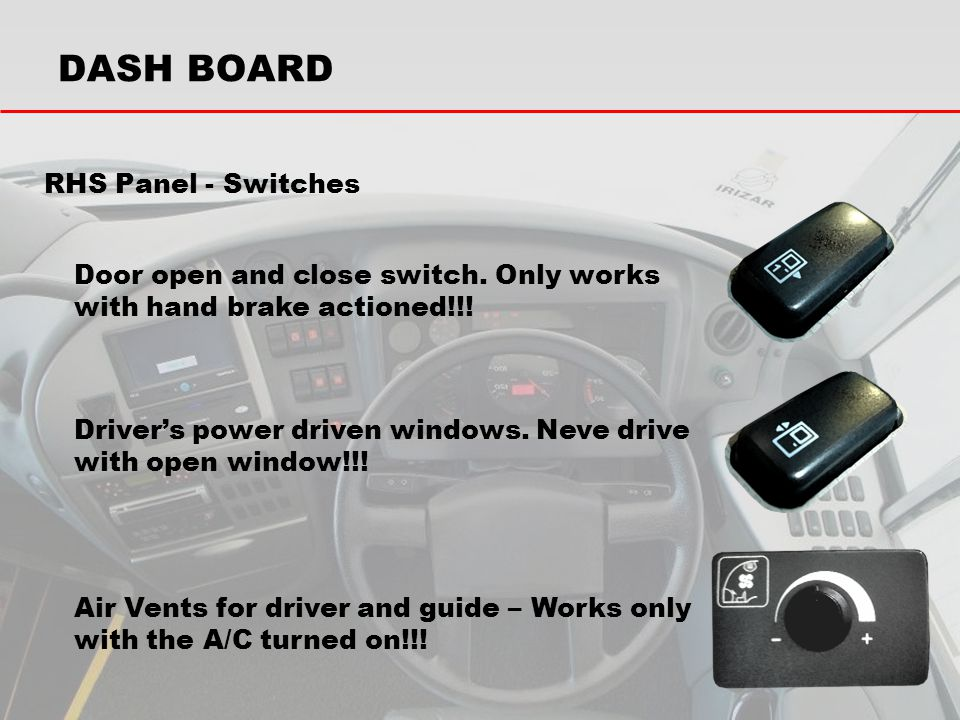 DASH BOARD RHS Panel - Switches