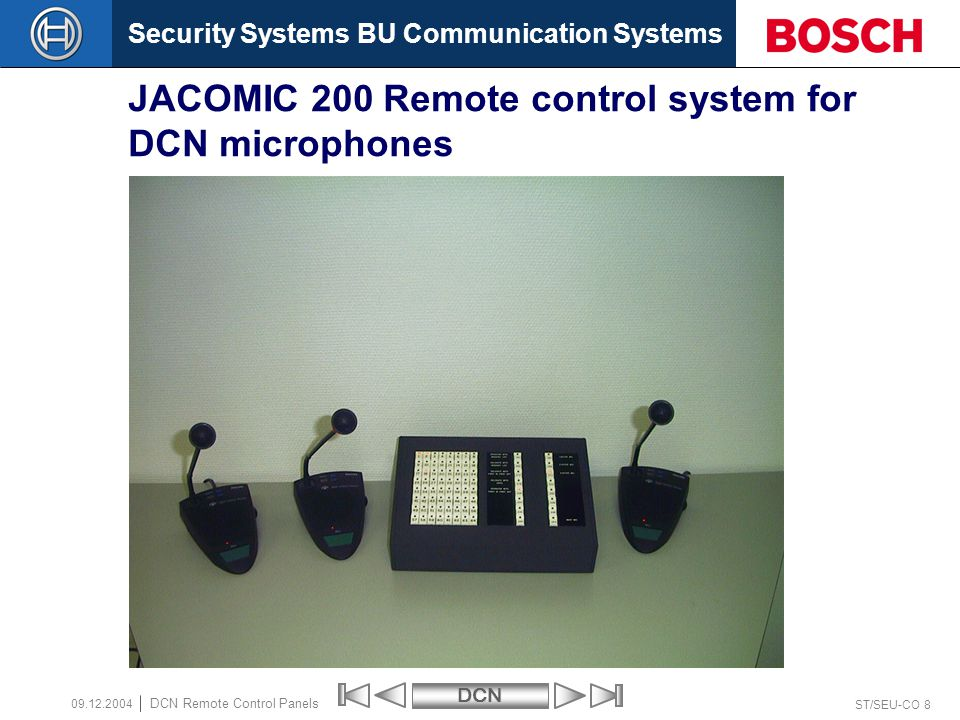 JACOMIC 200 Remote control system for DCN microphones