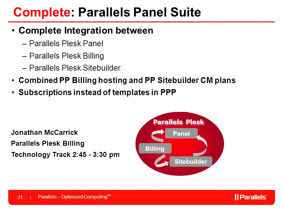 Complete: Parallels Panel Suite