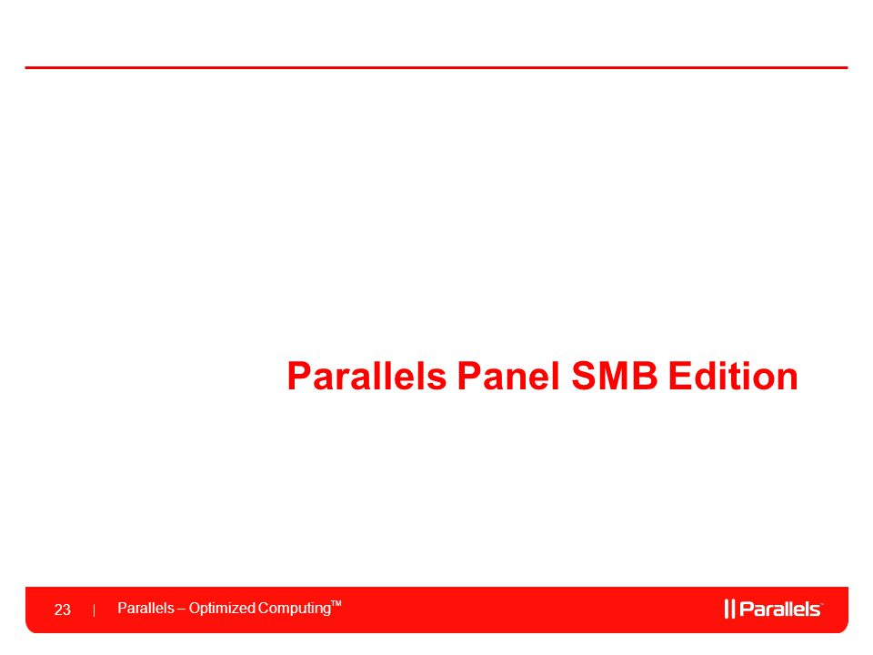 Parallels Panel SMB Edition