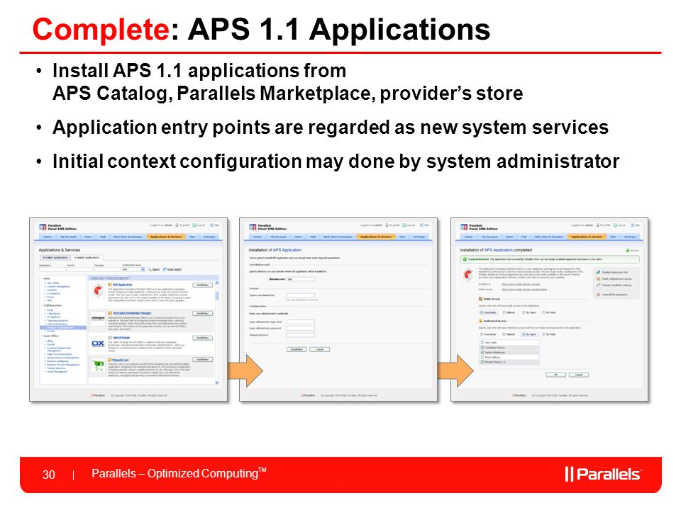 Complete: APS 1.1 Applications