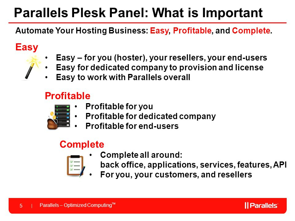 Parallels Plesk Panel: What is Important