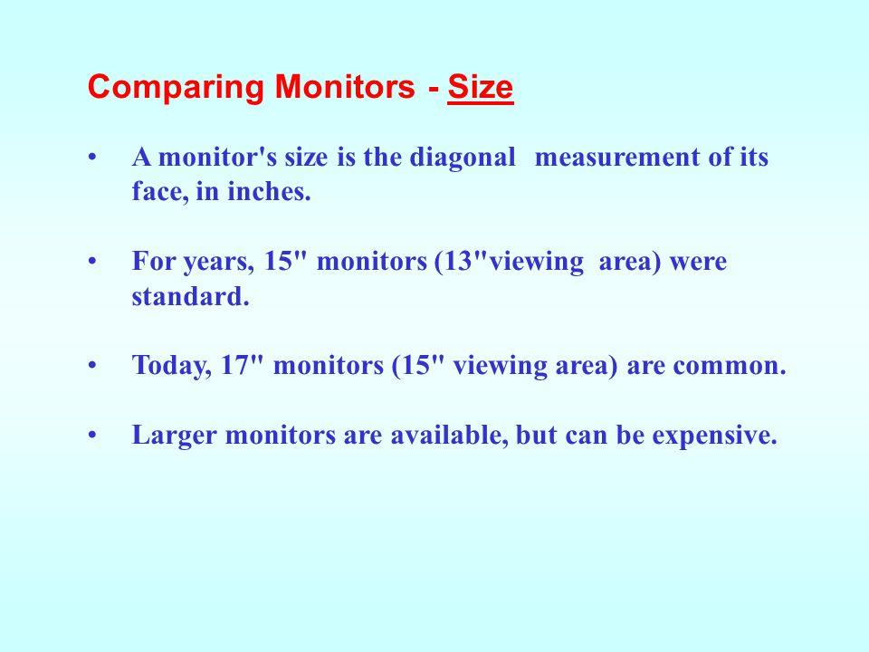 Comparing Monitors - Size