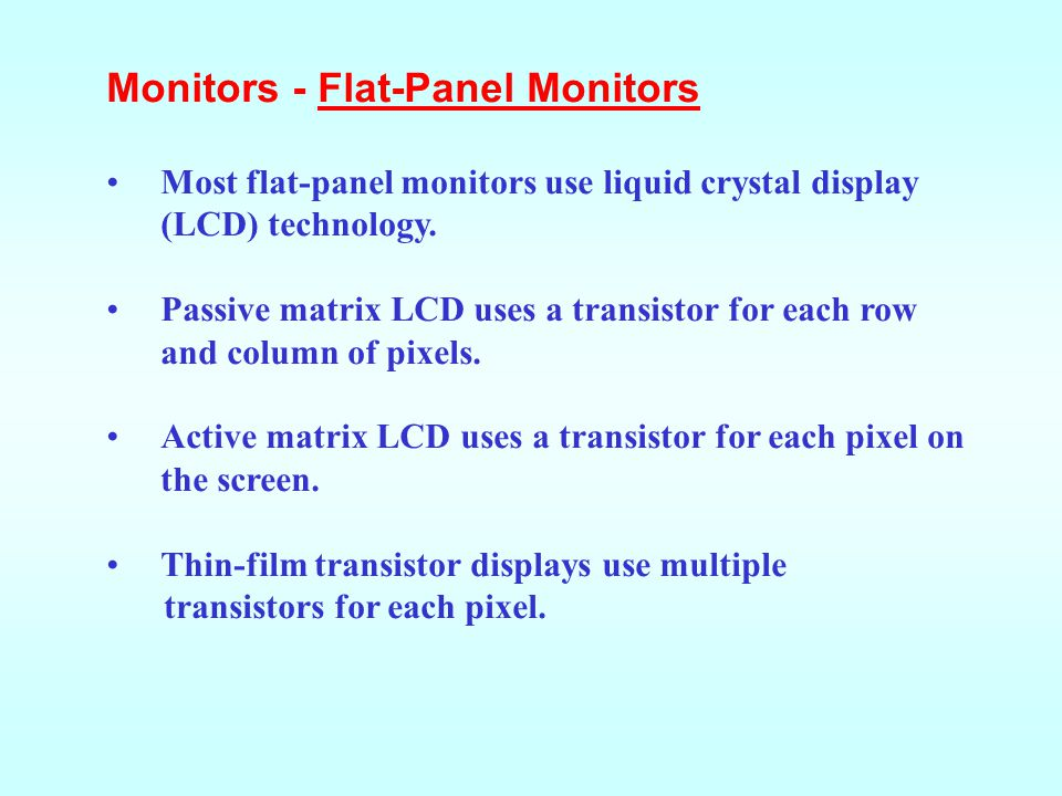Monitors - Flat-Panel Monitors
