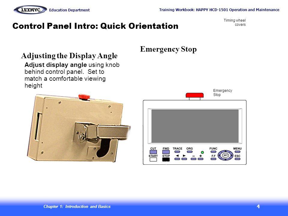 Control Panel Intro: Quick Orientation