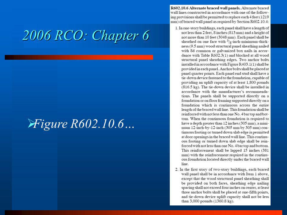 2006 RCO: Chapter 6 Figure R602.10.6…