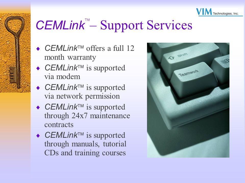 CEMLink– Support Services