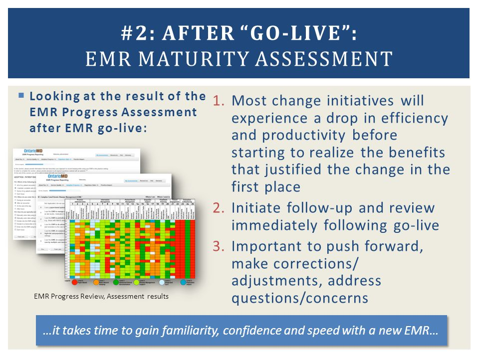 #2: AFTER GO-LIVE : EMR Maturity Assessment