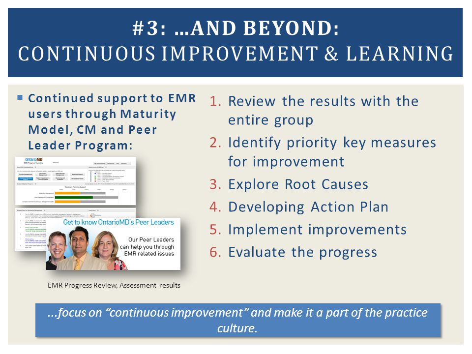 #3: …AND BEYOND: Continuous improvement & learning
