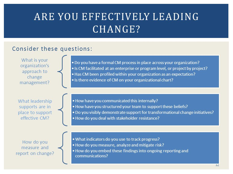 Are you effectively leading change