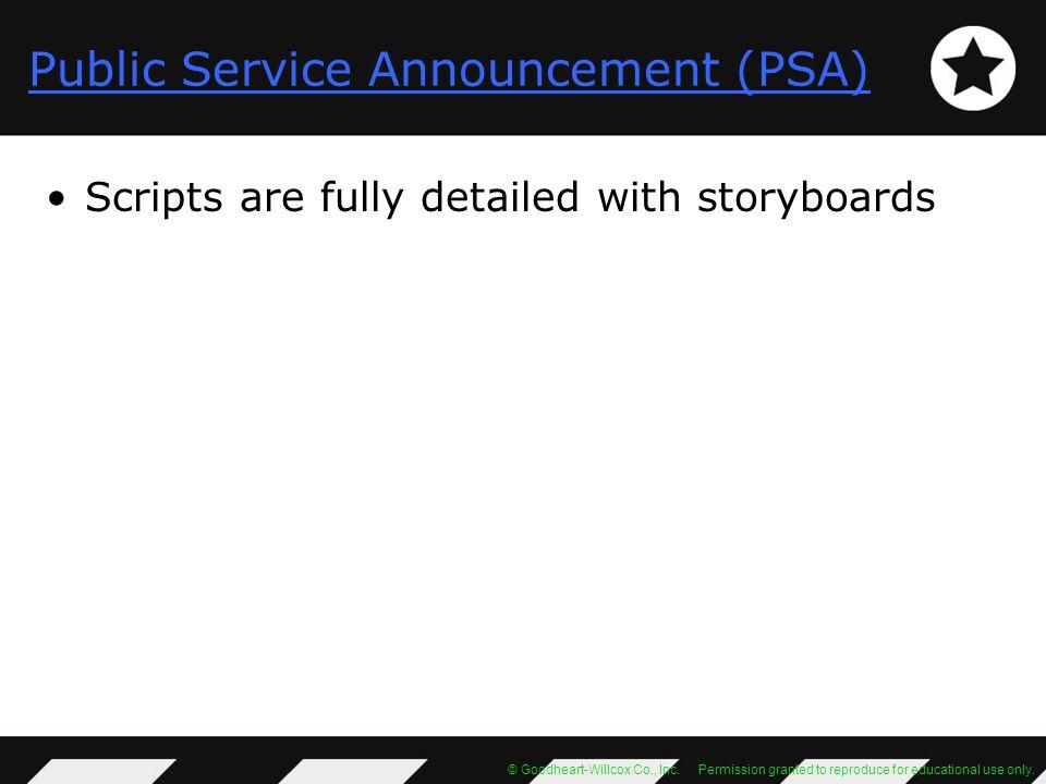 Public Service Announcement (PSA)