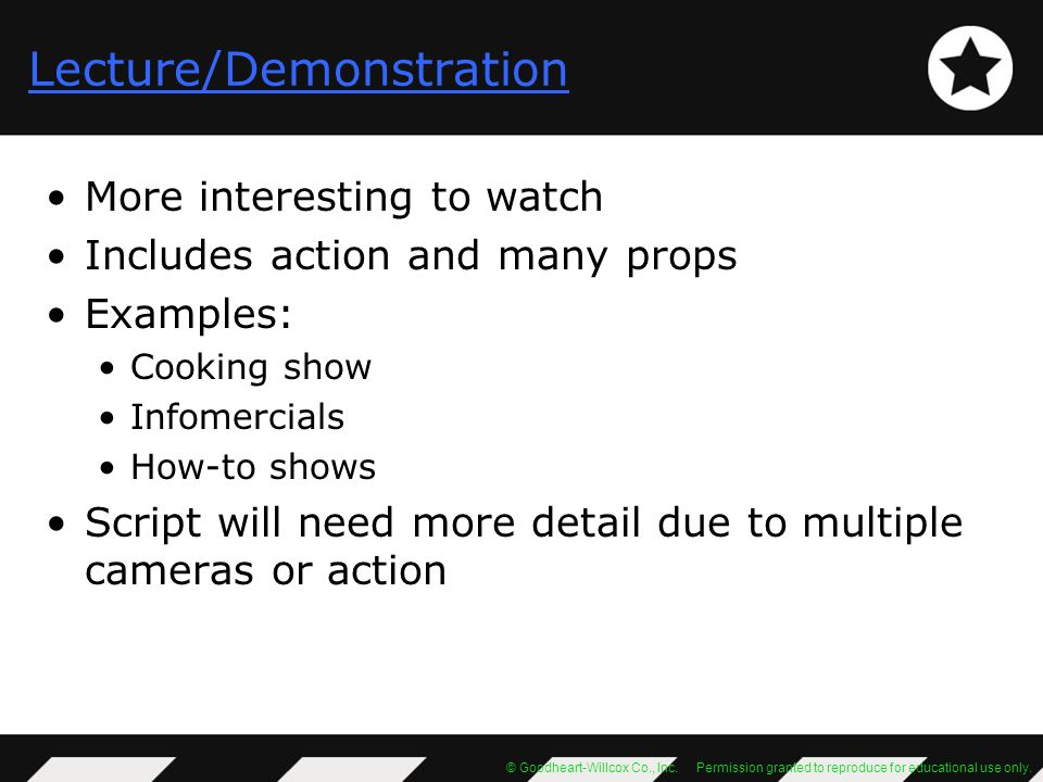 Lecture/Demonstration