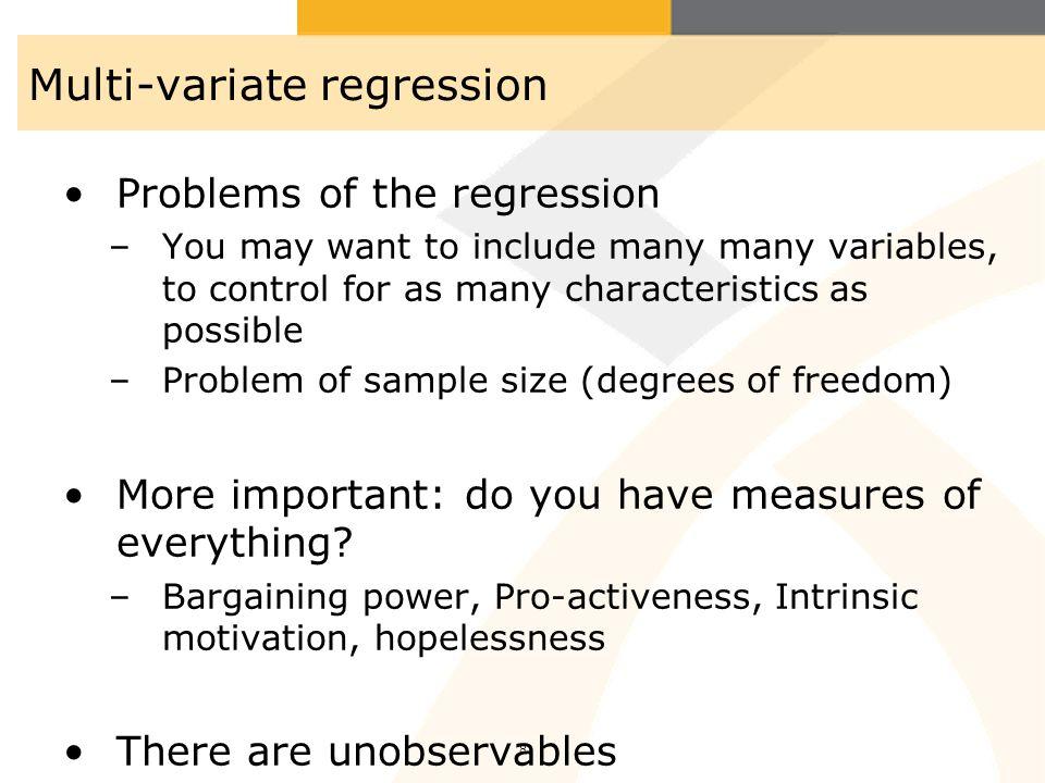 Multi-variate regression