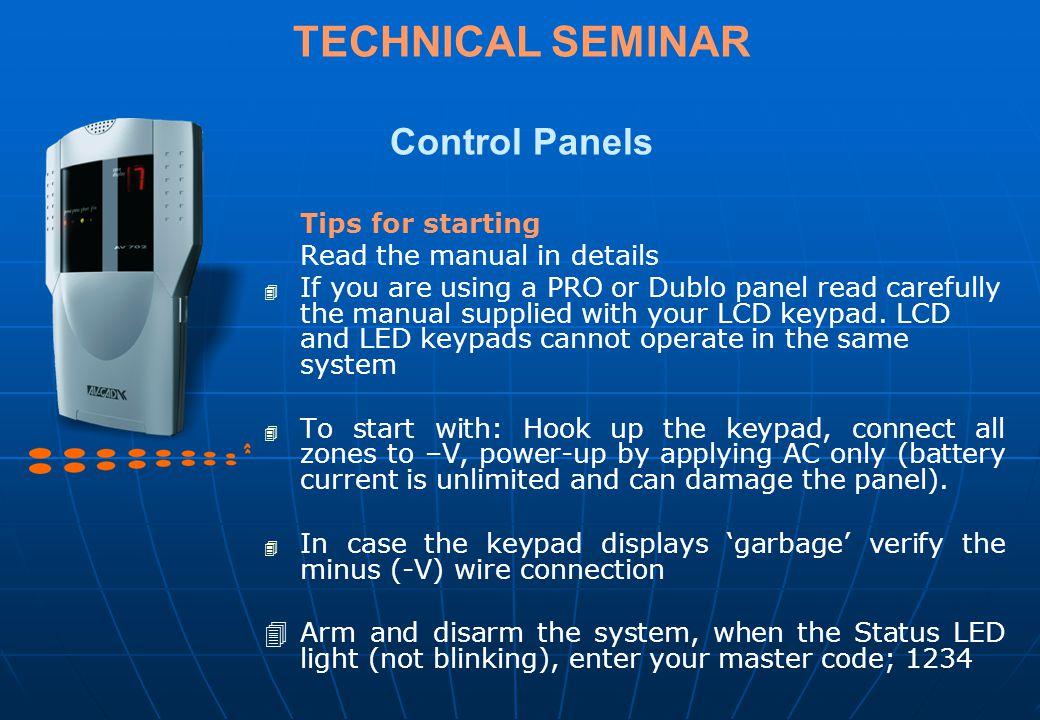 TECHNICAL SEMINAR Control Panels