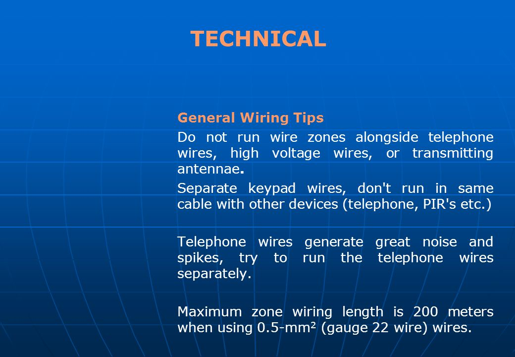 TECHNICAL General Wiring Tips