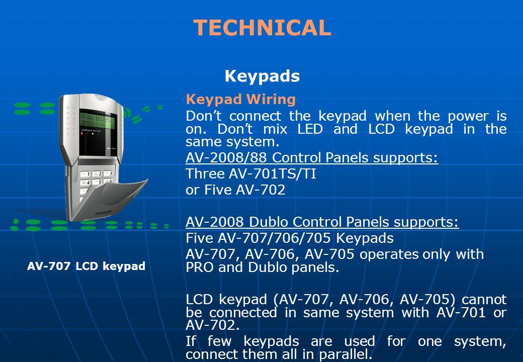 TECHNICAL Keypads Keypad Wiring