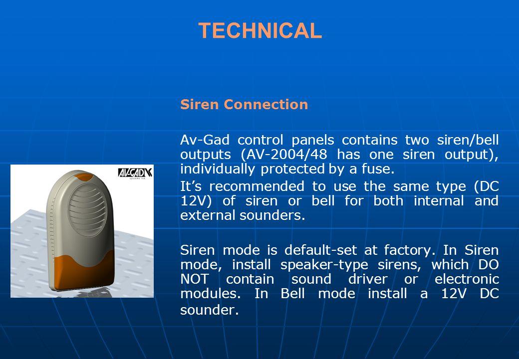 TECHNICAL Siren Connection