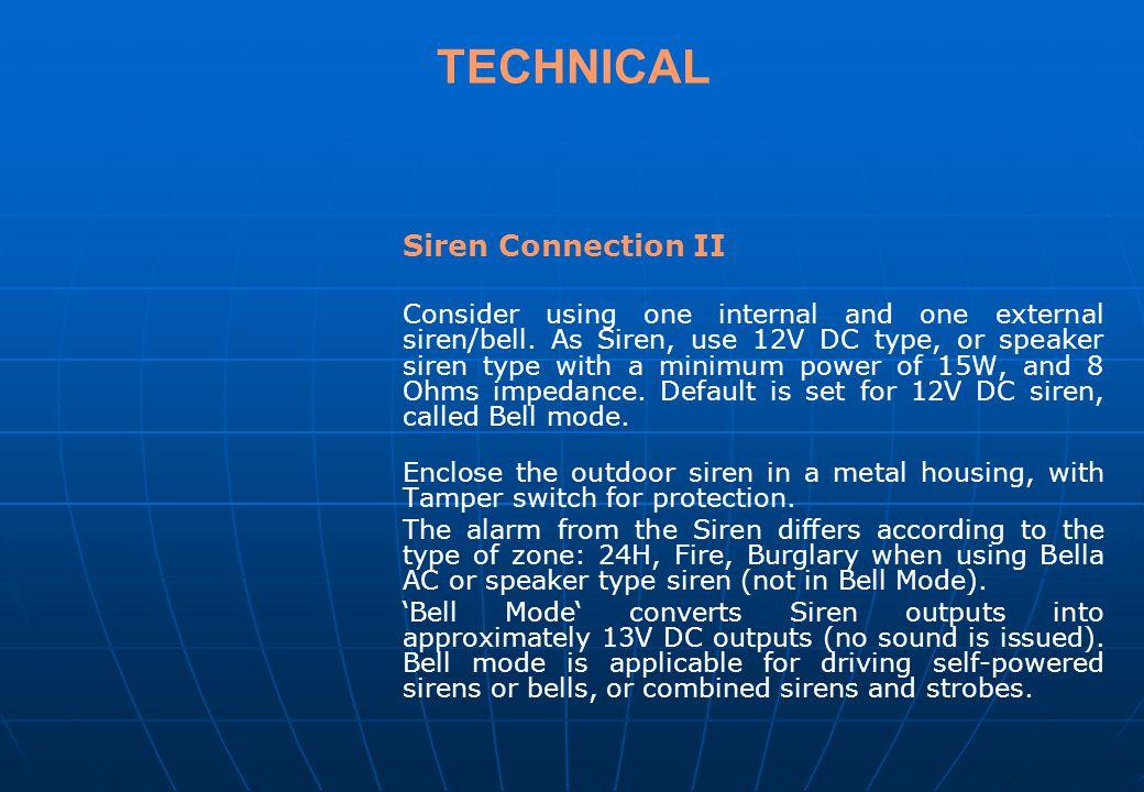 TECHNICAL Siren Connection II.