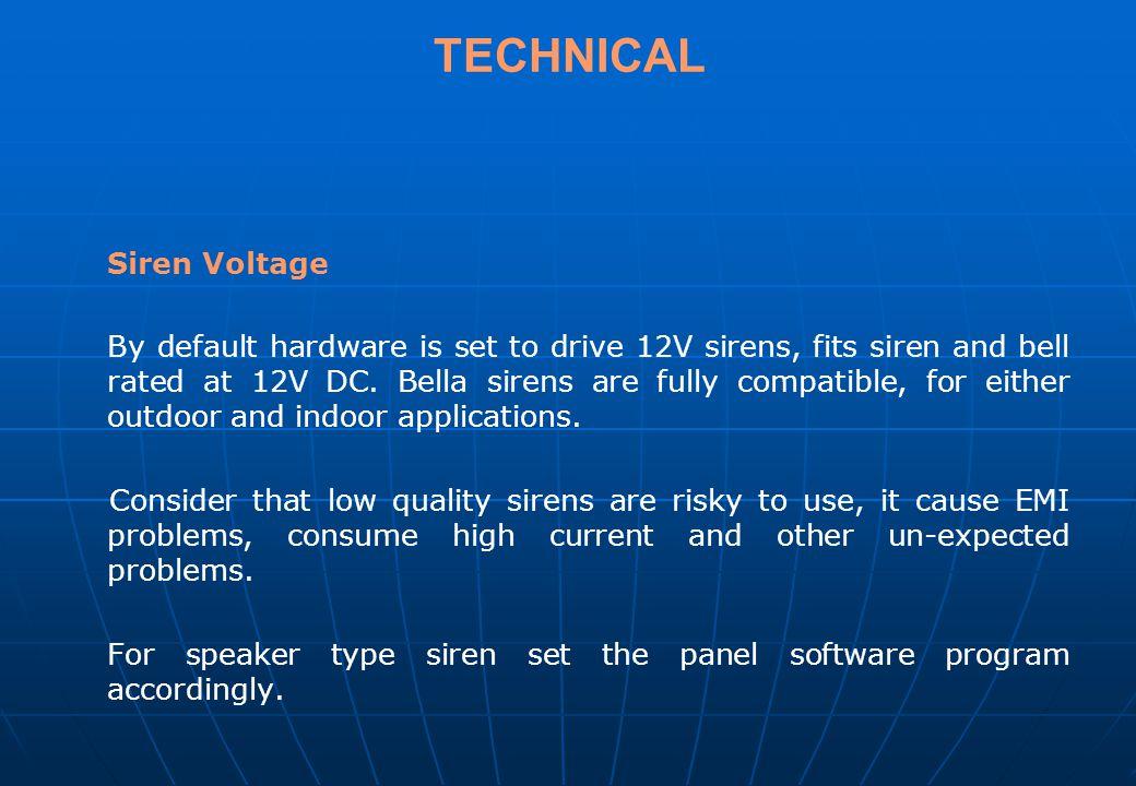 TECHNICAL Siren Voltage