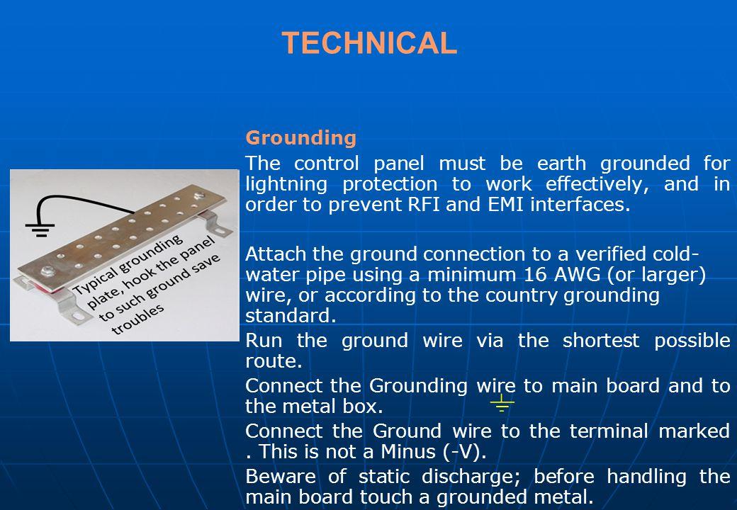 TECHNICAL Grounding.