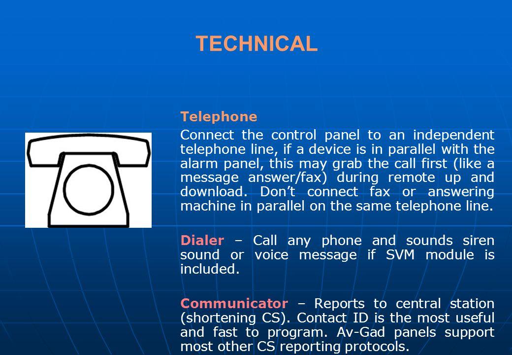 TECHNICAL Telephone.
