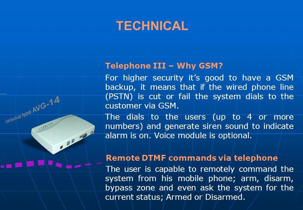 TECHNICAL Telephone III – Why GSM