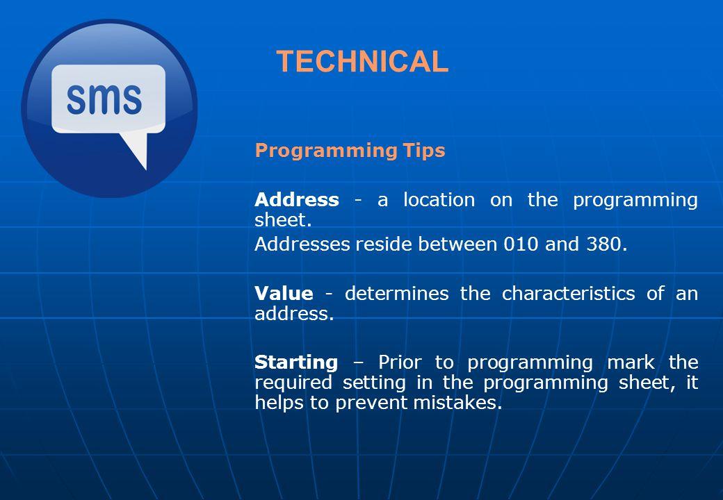 TECHNICAL Programming Tips
