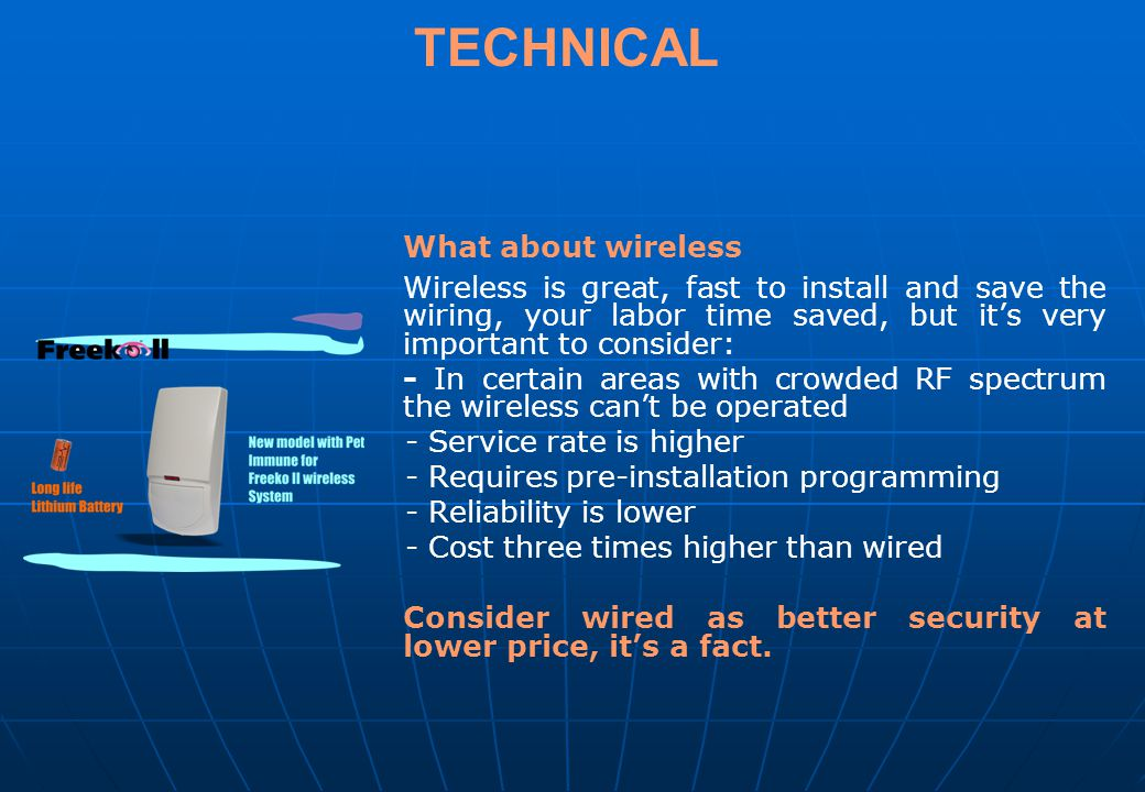 TECHNICAL What about wireless