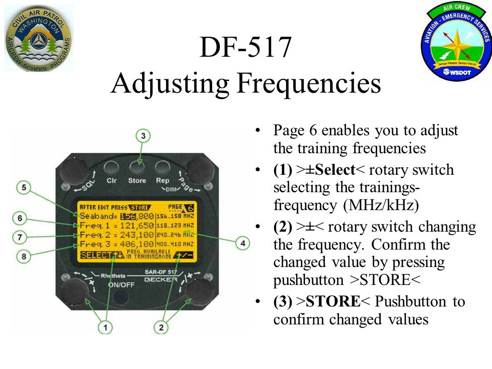 DF-517 Adjusting Frequencies