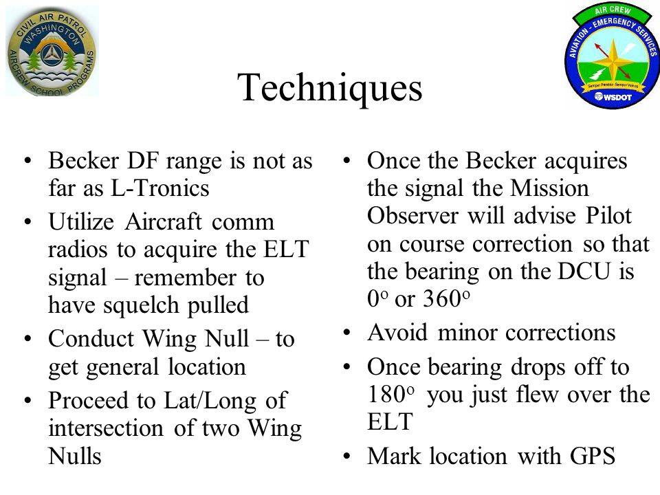 Techniques Becker DF range is not as far as L-Tronics