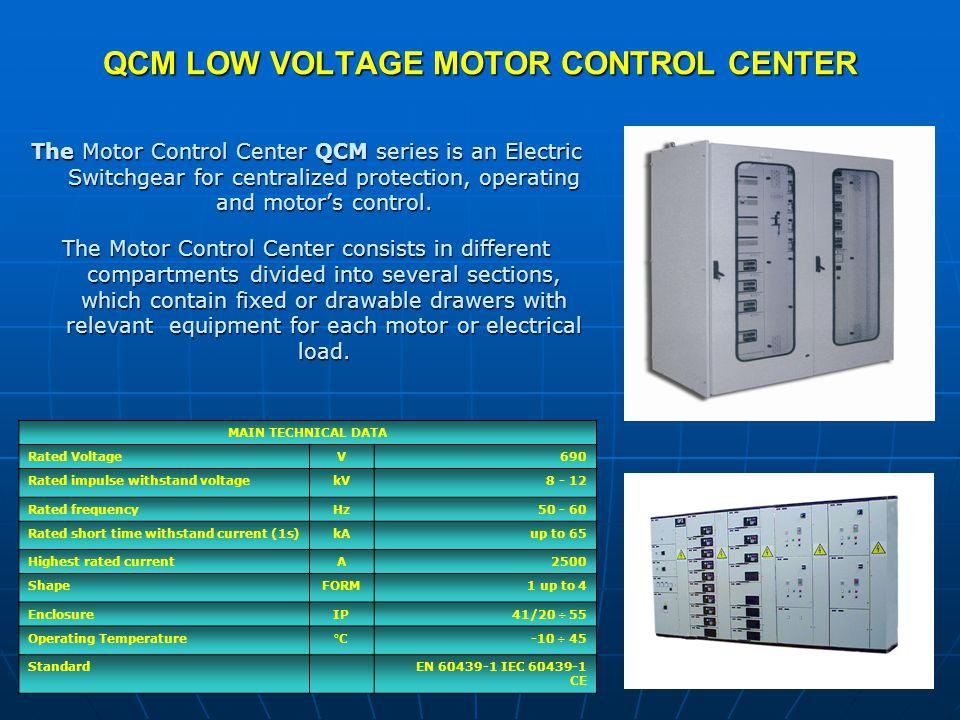 QCM LOW VOLTAGE MOTOR CONTROL CENTER