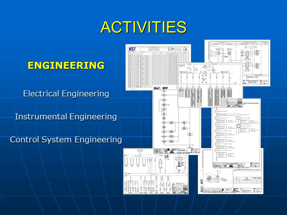 ACTIVITIES ENGINEERING Electrical Engineering Instrumental Engineering